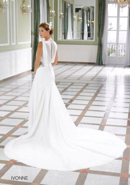 vestido de novia blanco sencillo elegante