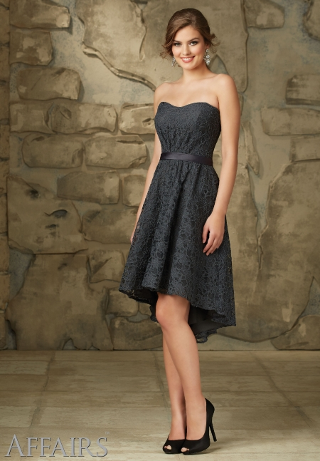 vestido de fiesta corto elegante