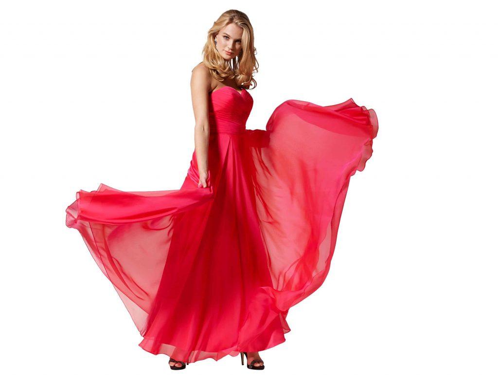 vestidos de fiesta en rojo, elegante, exclusive para la noche