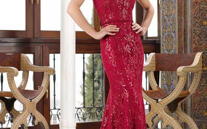 Vestido de madrina en rojo