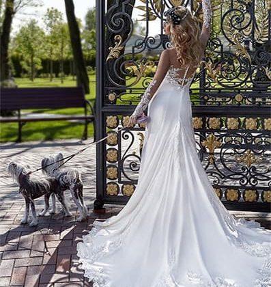 Vestido de novia con estilo, elegante y exclusivo.