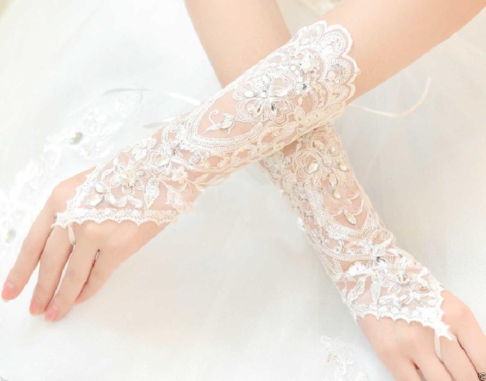 guantes para novia economicos