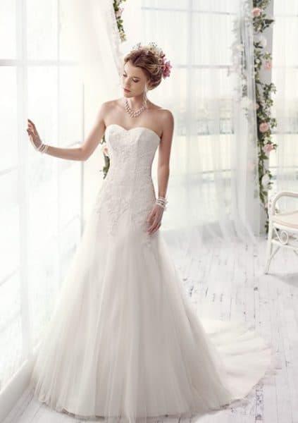 Vestido de novia de estilo para una boda romántica.