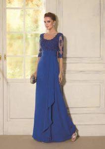 Vestido de madrina azul marino