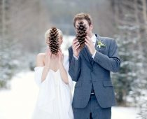 boda de invierno en la nieve