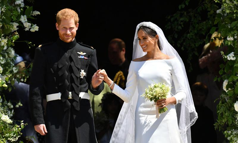 vestido de novia de Meghan