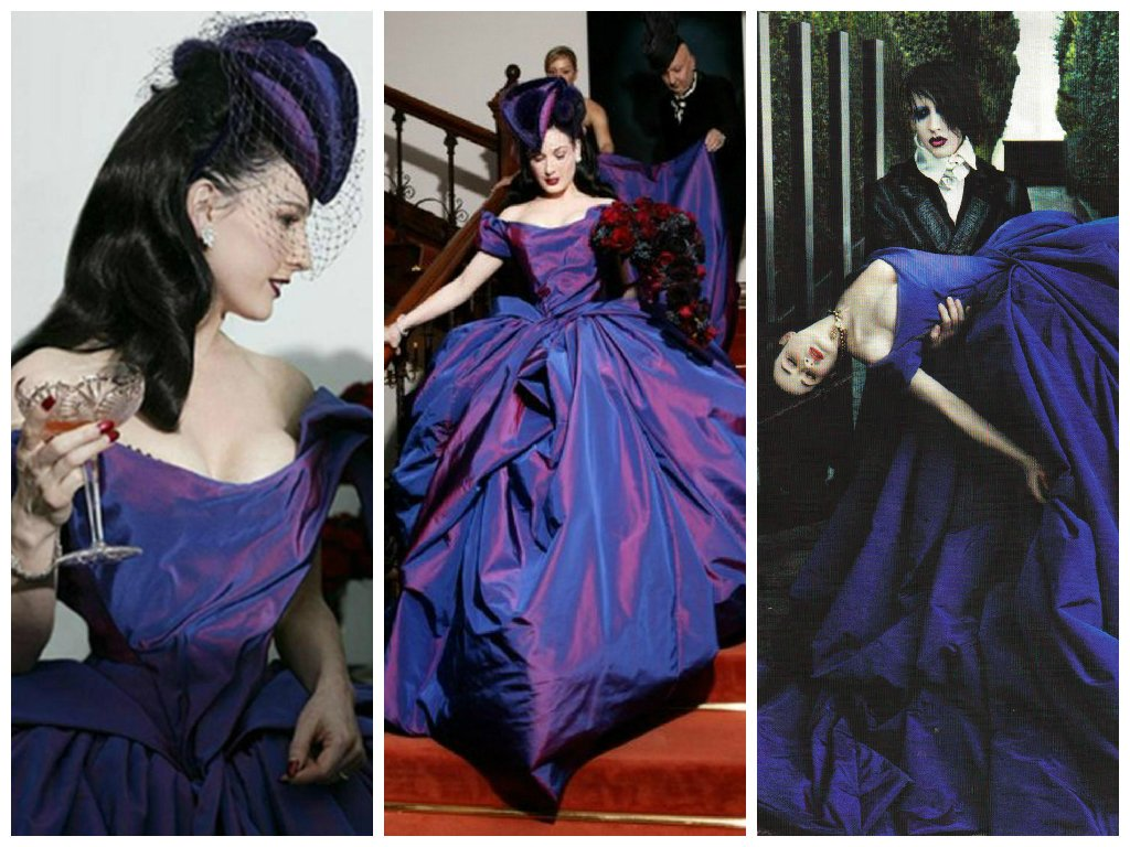 vestido de novia purpura
