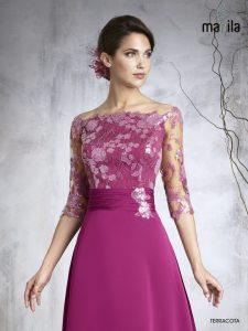 vestido de madrina rosa