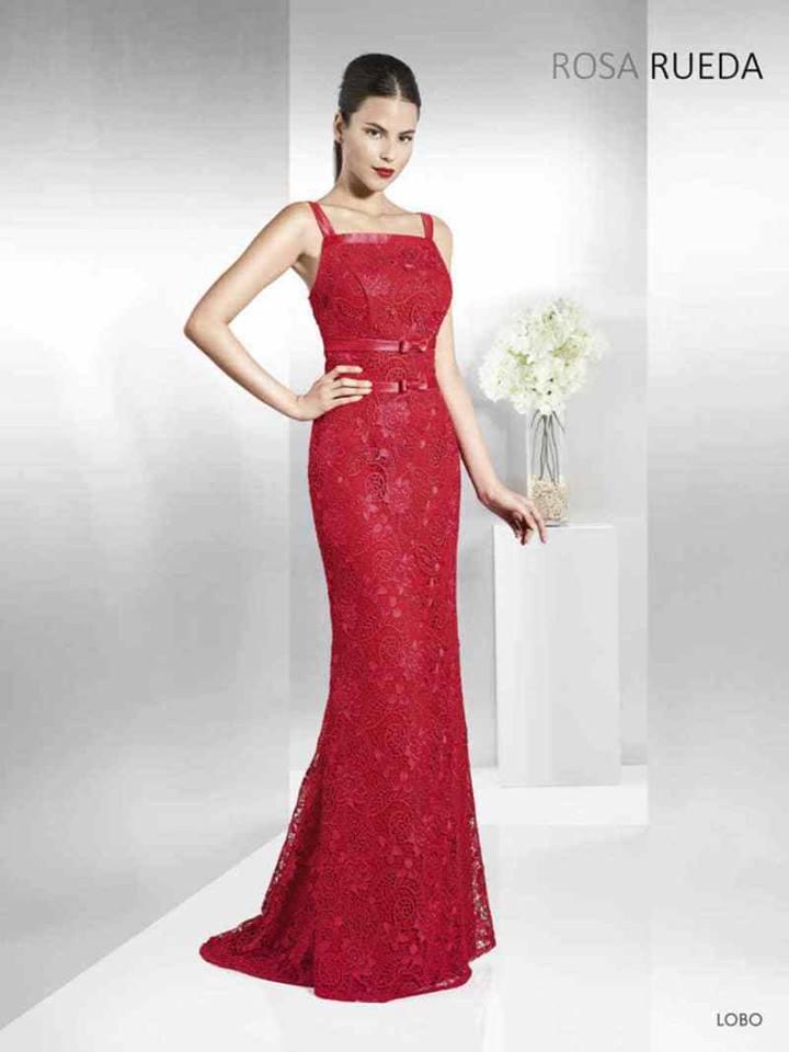 vestidos de fiesta rojo cómodos