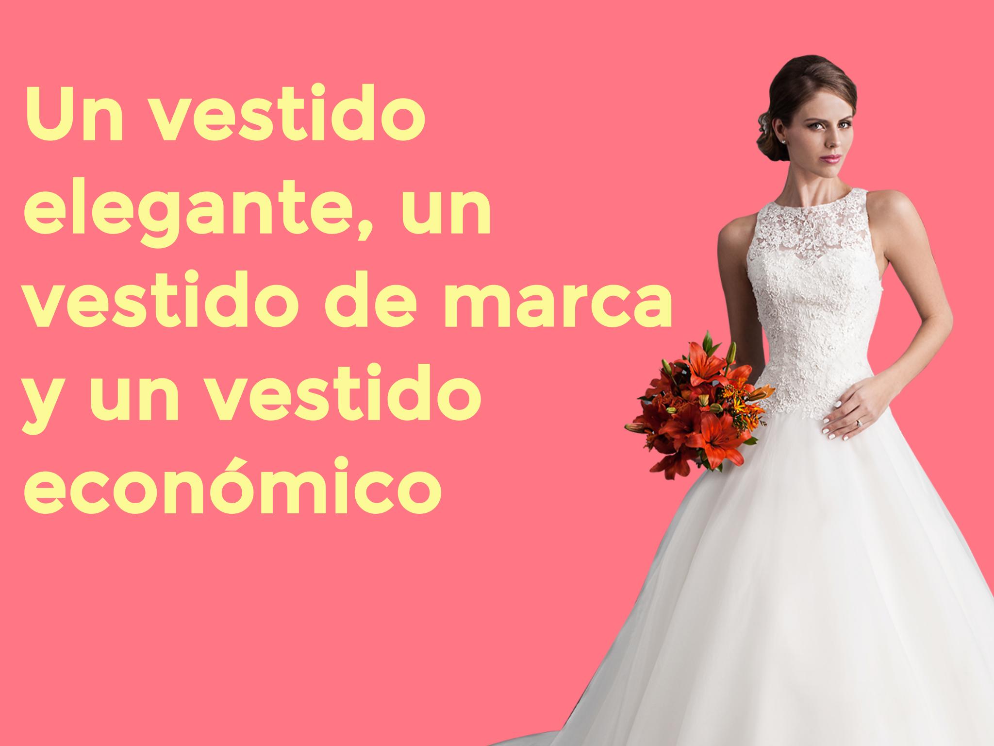 Un vestido elegante, un vestido de marca y un vestido económico