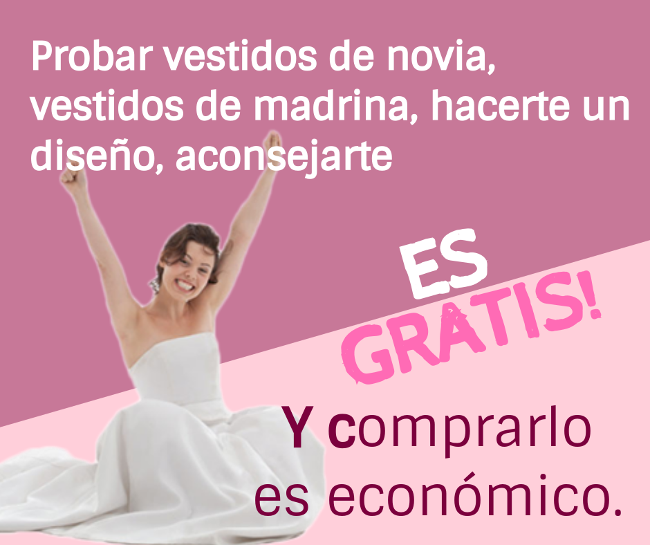 Gratis o económico en vestidos boda. Somos Marian Novias!