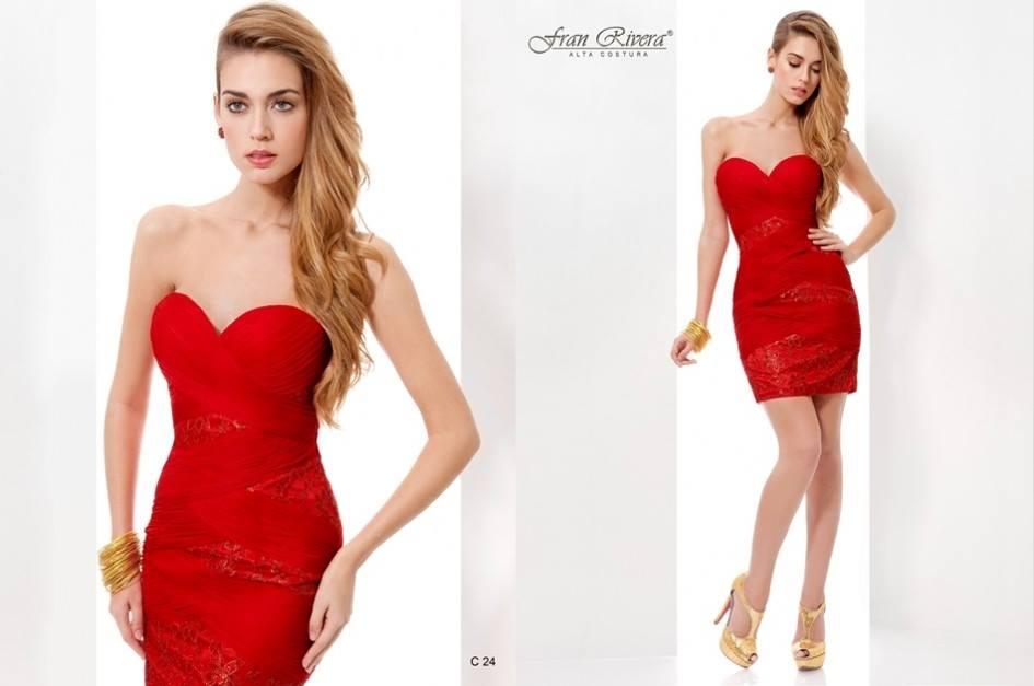 vestidos de fiesta rojo corto