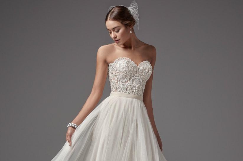 Vestido de Novia Civil Elegante