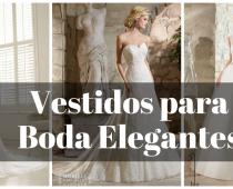vestido de boda elegantes